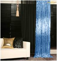 4FTX6FT-Baby Blue-Sequin Photo Backdrop,Party/Prom Photography Background,Wedding Photo Booth-200111E