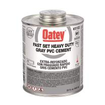 Oatey 32 oz. PVC Heavy Duty Gray Fast Set Cement