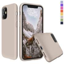 Inbeage Liquid Silicone iPhone 11 Silicone Case Silky Touch with Microfiber Cloth Lining Cushion Full-Body Protection Cover Slim Case for iPhone 11 6.1 inch (Stone)