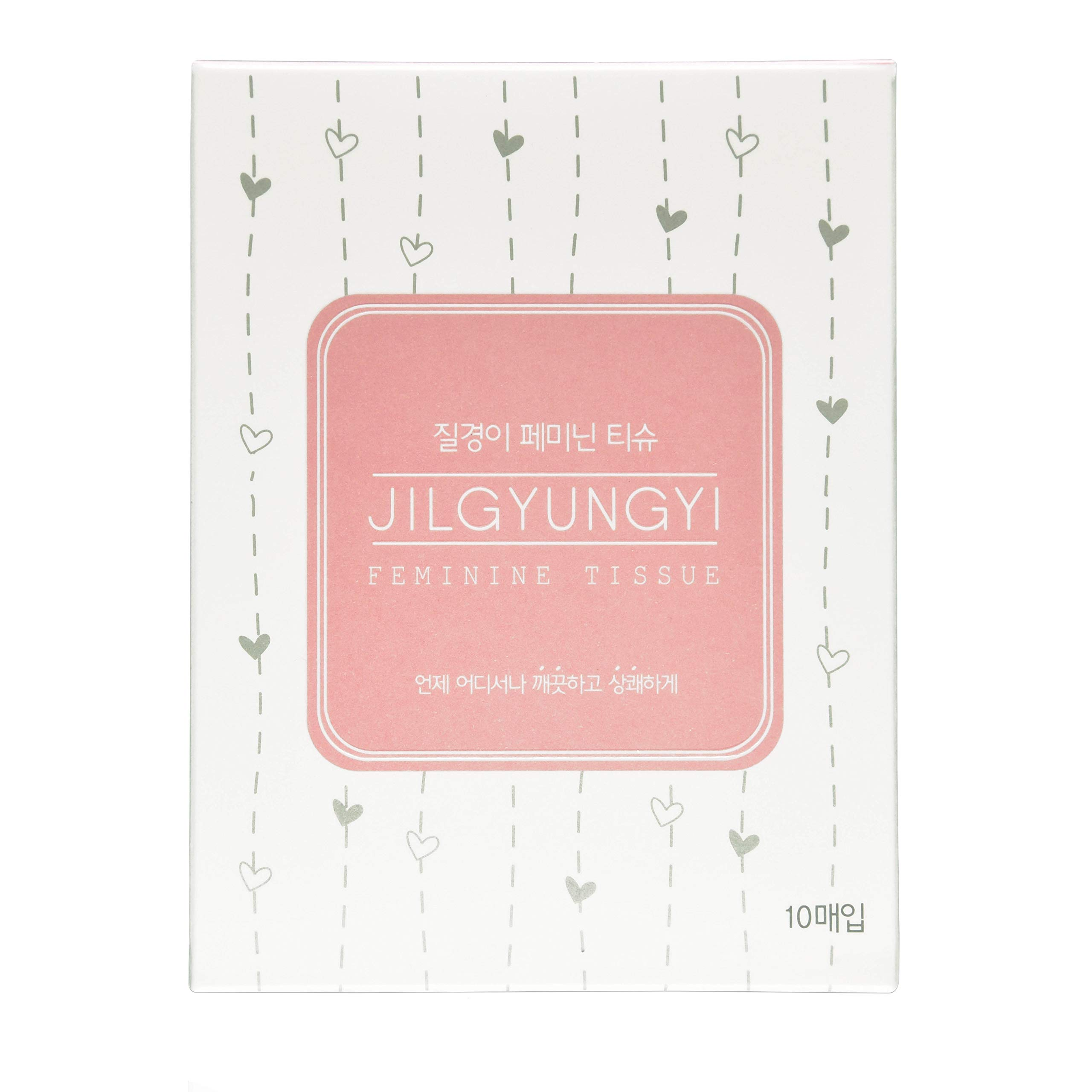 [JGY] Feminine TissueㅣIndividually Wrapped Pack of 10 (9g/1EA)ㅣWipe out Vaginal Area CleanㅣHelp Moisture The SkinㅣPortable Feminine WipesㅣIntimate Wipes with Lotus Extract