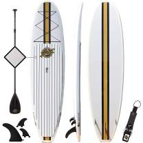 Premium Stand Up Paddle Board - 10'6 Orca SUP - Extremely Durable Hard ABS Shell