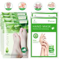 3 Pairs Foot Peel Mask & 2 Pairs Hand Moisturizing Gloves, Natural Aloe Extract, Make Your Feet and Hand Baby Soft, Remove Dead Skin, Exfoliating for Dry Foots, Repair Rough Skin