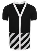 COOFANDY Mens Hipster Hip-Hop Tees Stylish Longline Fashion Jersey T-Shirt