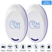 Ultrasonic Pest Repeller Electronic Plug in Repellent Indoor for Flea, Insects, Mosquitoes , Mice, Spiders ,Ants, Rats, Roaches, Bugs, Non-Toxic 2pack