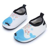 JIASUQI Baby Boys and Girls Barefoot Swim Water Skin Shoes Aqua Socks for Beach Swim Pool
