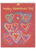 NobleWorks, Jumbo Happy Valentines Day Greeting Card (8.5 x 11 Inch) - Big Valentine's Card - Radiant Hearts J3488VDG