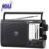PRUNUS J-05 Transistor Radio Battery Operated AM FM Radio with Excellent Reception, Portable Weather NOAA Radio Powered by 3X D Cell Batteries or AC Power for Household and Outdoor