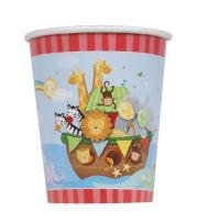 9oz Noah's Ark Baby Shower Paper Cups, 8ct