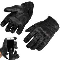 Viking Cycle Motorcycle Premium Touch Screen Leather Protection Gloves for Men