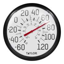 Taylor Precision Products 6700 Big & Bold Wall Thermometer, Black