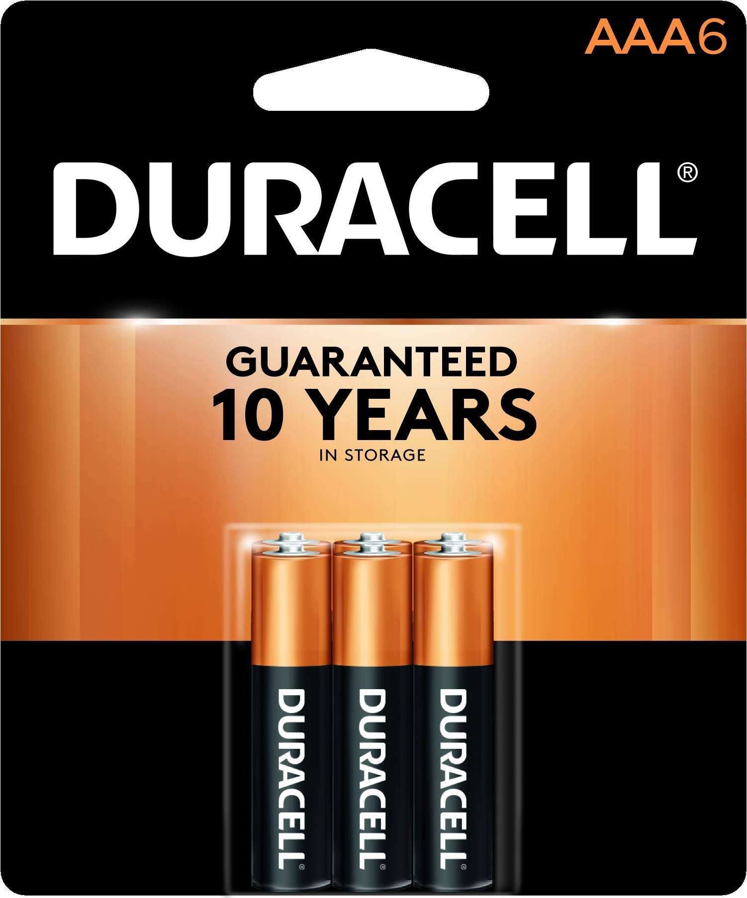 Duracell - CopperTop AAA Alkaline Batteries - long lasting, all-purpose Triple A battery for household and business - 6 Count