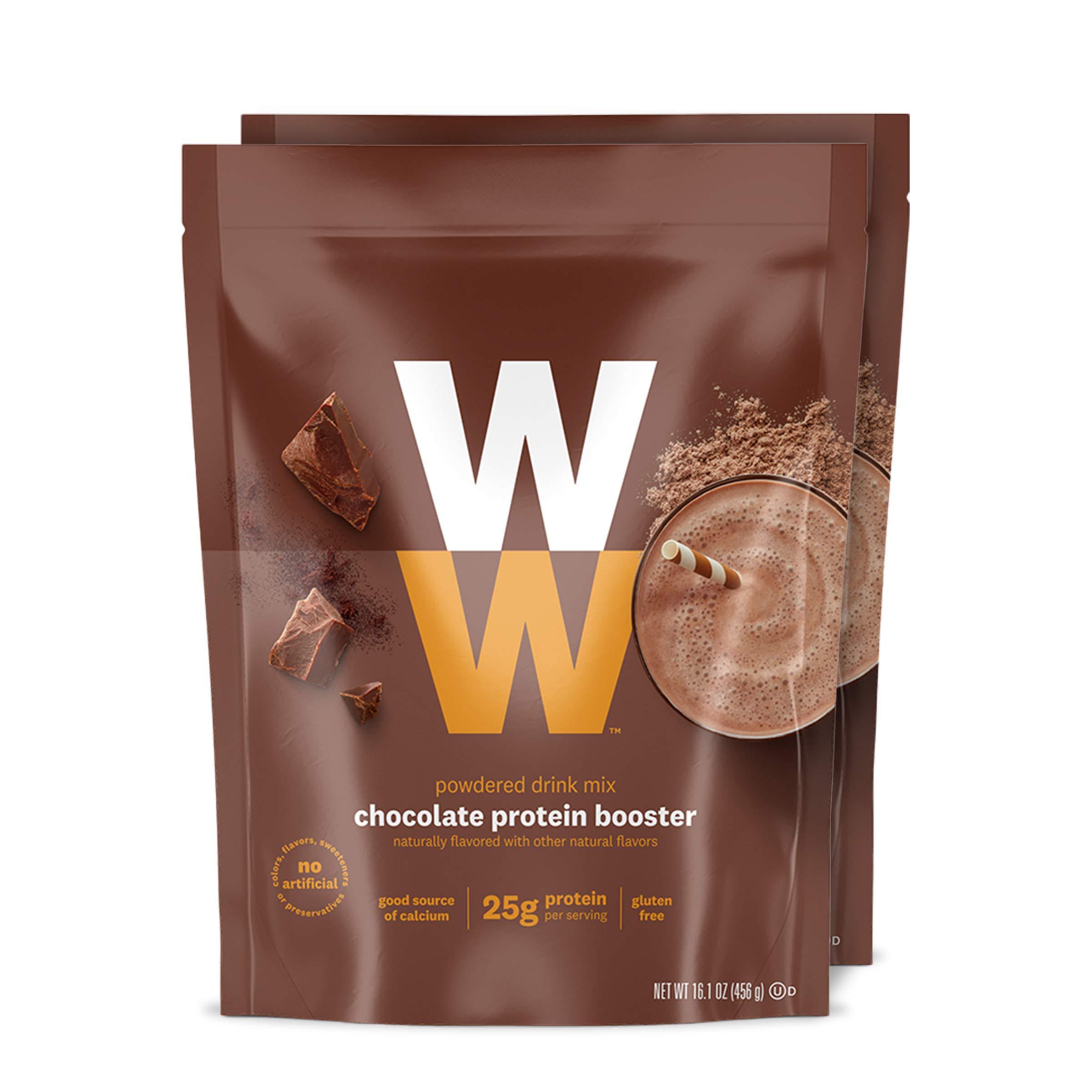 WW Chocolate Protein Booster - Whey Protein Powder, 2 SmartPoints - 2 Pouches - Weight Watchers Reimagined