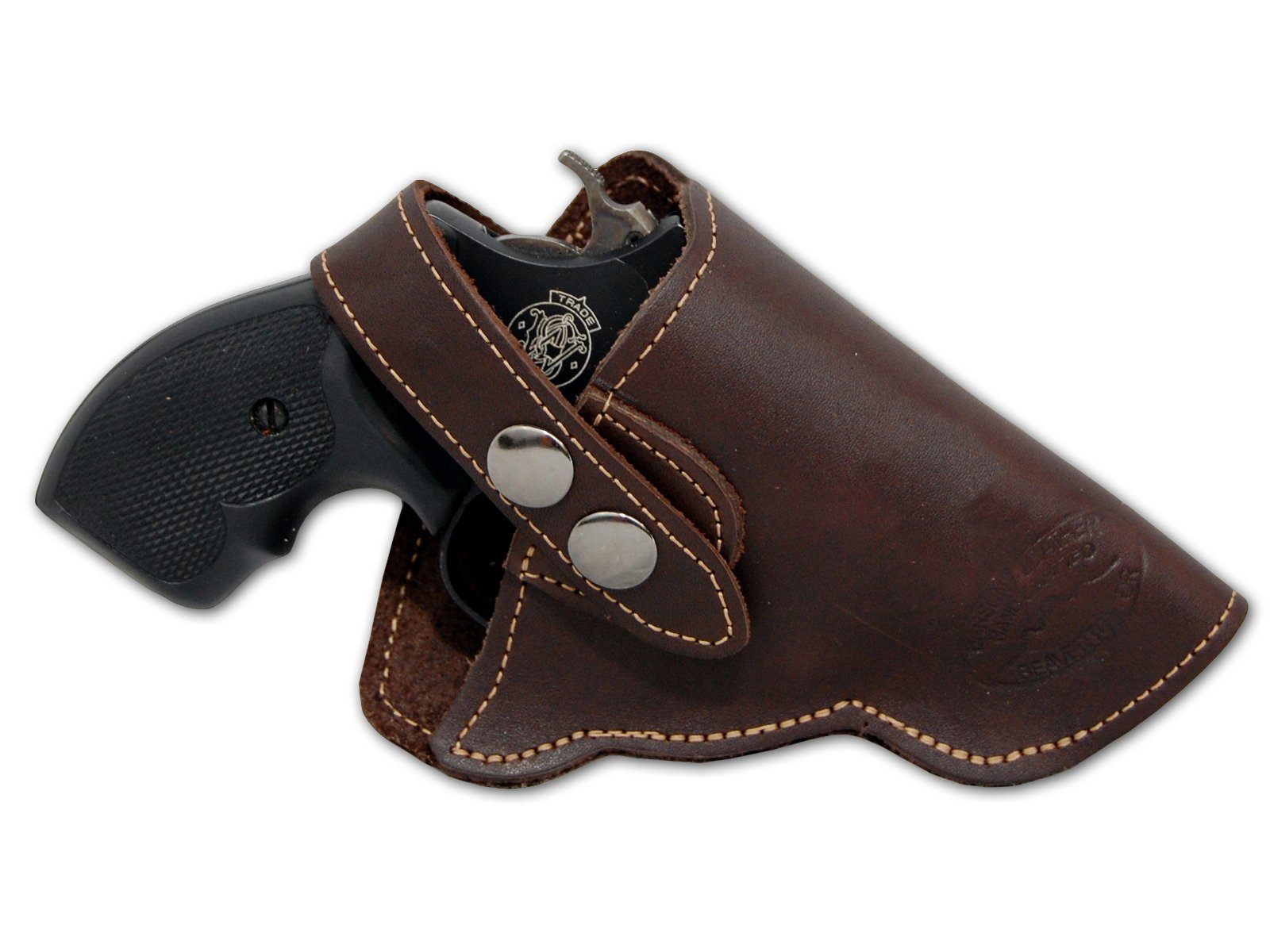 "Barsony New Brown Leather OW Holster for Snub Nose 2"" 22 38 357 41 Revolvers"