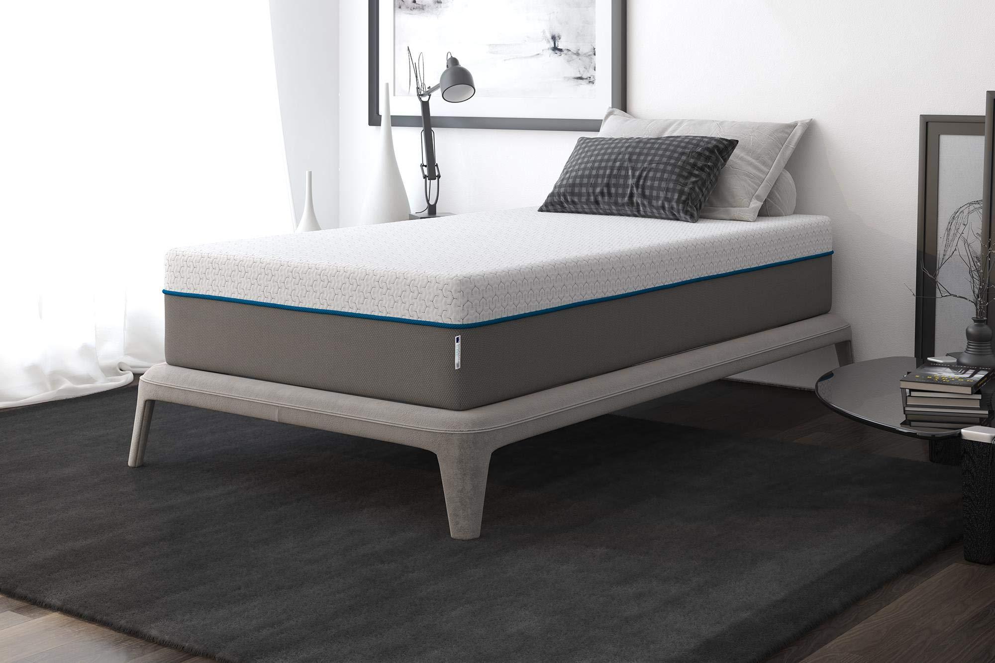 Signature Sleep Flex 12-Inch Charcoal Gel Memory Foam Mattress, Twin Size