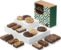 Fairytale Brownies Father's Day Cookie & Sprite Combo Gourmet Chocolate Food Gift Basket - 3 Inch x 1.5 Inch Snack-Size Brownies and 3.25 Inch Cookies - 18 Pieces - Item CD323
