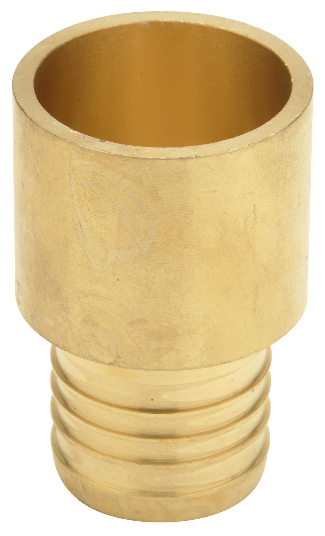 """Zurn QQ675CX Crimp Male Sweat Adapter, Small Diameter, 3/4"""" Male Sweat x 3/4"""" Barb, Copper (Pack of 50)"""
