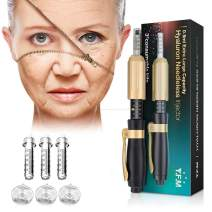 0.5ML Hyaluron Pen, YFM Hyaluronic Pen Kit with 3PCS Ampoule Heads, Help to Reduce Blemishes and Wrinkles, Restore Skin Elasticity