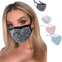 Sparkle Washable Face Mask Christmas Festive Nightclub Masquerade Party Masks for Women Girls