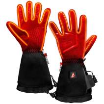 ActionHeat Thin Waterproof Heated Gloves for Men, Electric Gloves, 3 Heat Setting, Heated Gloves for Winter Sports, Outdoor Camping, Skiing, Climbing, Hiking