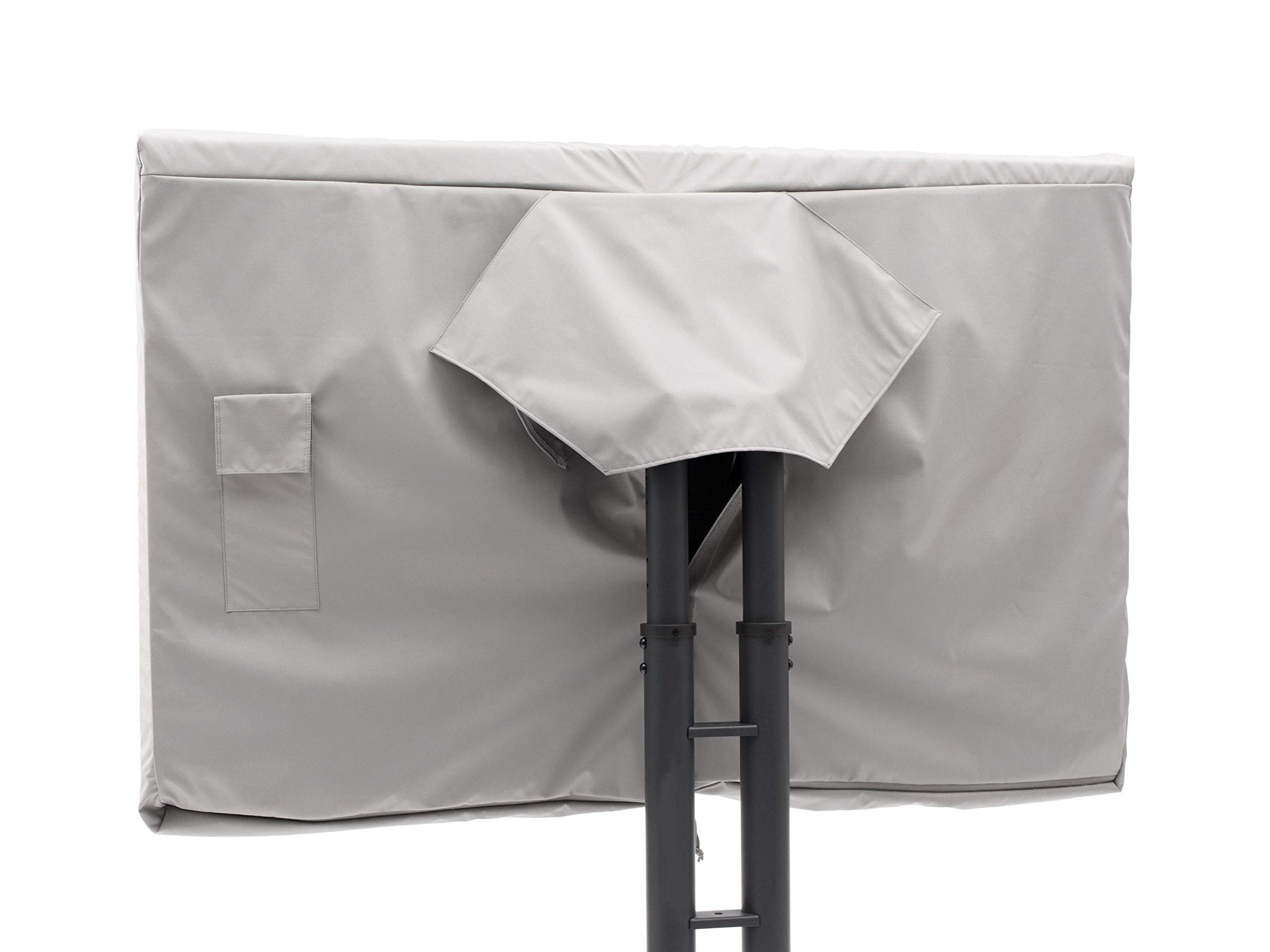 Covermates - Outdoor TV Cover - Fits 18 to 21 Inch TV's - Ultima - 300 Denier Fade Resistant Polyester - Full Coverage - Interior Fleece Lining - 7 Year Warranty - Water Resistant - Grey