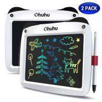 """LCD Writing Tablet Colorful Screen, Ohuhu 2 Pack 9"""" Electronic Drawing Doodle Board, LCD Digital Handwriting Pad Gifts for Kids Children at Home and School, Scribble and Play Learning Boards Ages 3+"""
