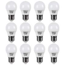 TORCHSTAR 12-Pack LED Refrigerator Light Bulb, A15 Fridge Bulb, 5W (40W Eqv.), UL-Listed, Wide Beam Angle for Freezer, Ceiling Fan, Desk Lamp, E26/E27 Base, 3000K Warm White