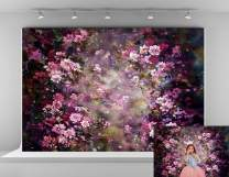 Kate 10x6.5ft Microfiber Spring Backdrop for Photography Abstract Painting Pink Flowers Photo Background Wedding Birthday Party Decoration Backdrops