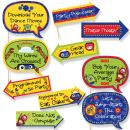 Funny Robots - Baby Shower or Birthday Party Photo Booth Props Kit - 10 Piece