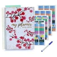 Planner 2019 2020 | Weekly Monthly Planner with Stickers - Achieve Your Goals and Improve Productivity - Busy Bee Planners