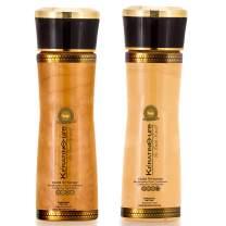 Keratin Cure Gold & Honey 2 Piece Hair Care Sulfate Free Shampoo, Conditioner for Repair Moisturize Argan & Fruit Oils, Shea botanicals for keratin treated hair (160ml/ 5 fl oz)