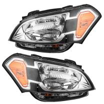 Driver and Passenger Headlights Headlamps Replacement for Kia 921012K030 921022K030
