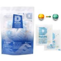 Dry & Dry 10 Gram [30 Packs] Silica Gel Food Safe Orange Indicating(Orange to Dark Green) Mixed Silica Gel Packets Desiccant - Food Safe Silica Packets for Moisture Absorber Silica Gel Packs