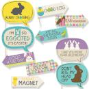 Funny Hippity Hoppity - Easter Party Photo Booth Props Kit - 10 Piece