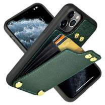 """LAMEEKU iPhone 11 Pro Max Wallet Case, iPhone 11 Pro Max Card Holder Case, iPhone 11 Pro Max Leather Case with Credit Card Holder, Protective Cover for iPhone 11 Pro Max (2019) 6.5"""" Midnight Green"""