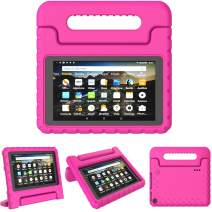 "TIRIN Kids Case for All-New Fire 7 2019 - Light Weight Shock Proof Convertible Handle Stand Protective Kid-Proof Case for All-New Amazon Fire 7 Tablet(9th Generation - 2019 Release)(7"" Display), Rose"