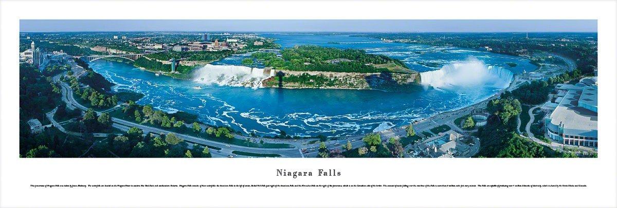 Niagara Falls - Daytime - Unframed Blakeway Panoramas Print