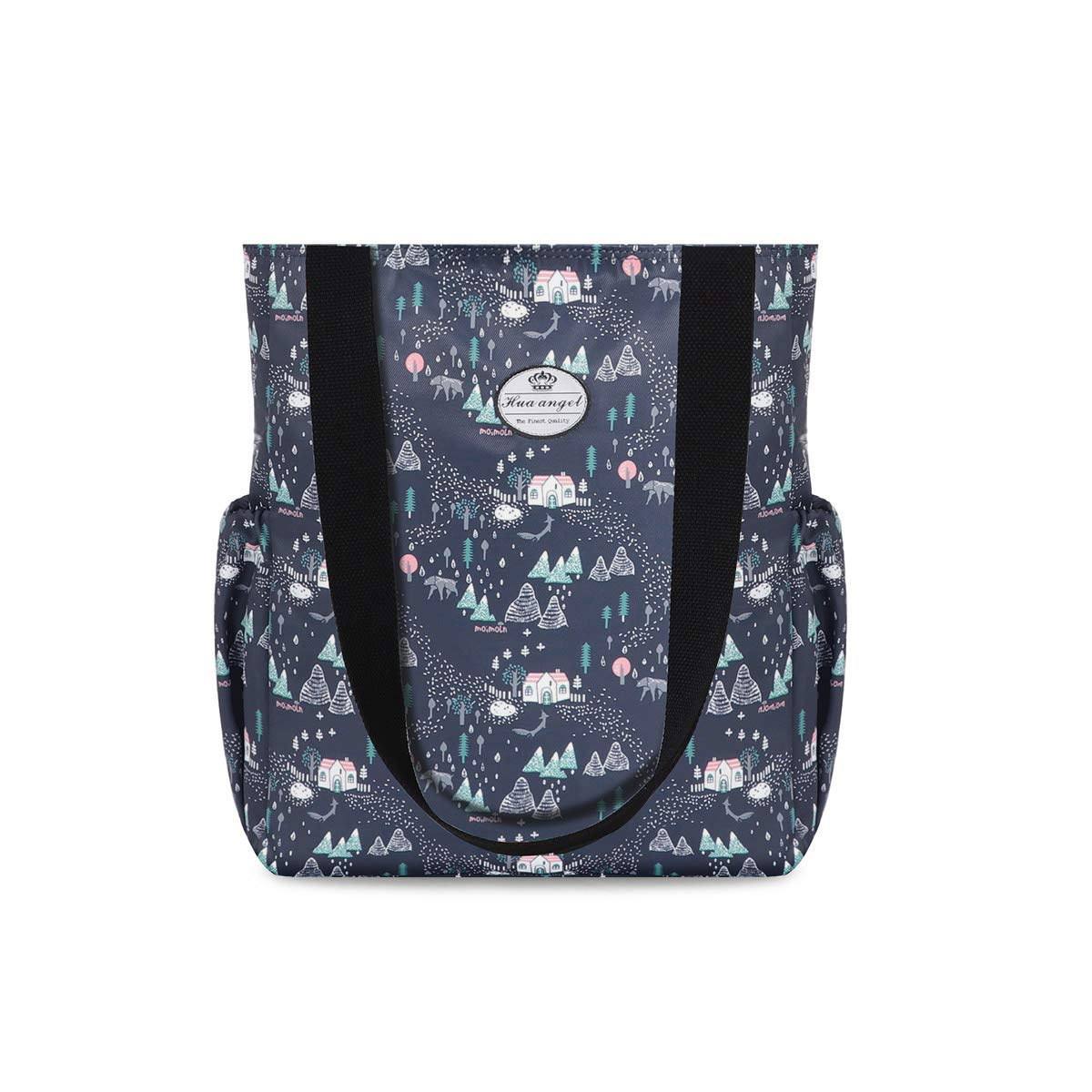 Hua angel Shoulder Tote Bag-Floral Daily Casual Travel Handbag for Gym Shopping