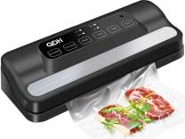 Vacuum Sealer with Built-in cutter for Food Saver, Automatic 5-in-1 food Sealer System for Food Preservation, Dry & Moist Food Modes, Led Indicator Lights , Easy to Clean, Compact Design