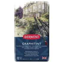 Derwent Graphitint Pencils, Metal Tin, 12 Count (0700802)