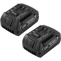 Forrat Replacement for Bosch 18V Battery 5000mAh Lithium ion Compatible for BAT609 BAT612 BAT618 BAT619G BAT610G BAT620 SKC181-02 Bosch 18Volt Cordless Power Tool Battery 2Packs