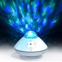 Star Projector Night Light Projector with Remote Control LED Galaxy Ocean Wave Projector Bluetooth Music Speaker for Bedroom, Game Rooms, Party, Home Theatre, Night Light Ambiance, EURPMASK