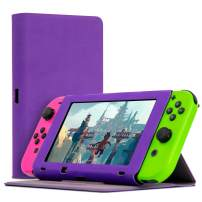 Orzly Screen Cover Stand Compatible With Nintendo Switch, PURPLE Multi-Functional Tablet Case with built-in 3-Angle Stand & Protective Lid to Protect the Screen of the Nintendo Switch Console