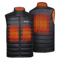 Shoot Heated Warm Vest Men Women with Battery,7.4V,Neck Heating Zone,Lightweight