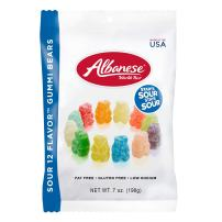 Albanese Candy, Sour 12 Flavor Gummi Bears, 7 Ounce (12-Count)