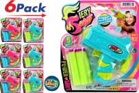JA-RU Girl Ultra Foam Dart Gun (Pack of 6) Fiery Spirit Power Shot Super Powerful Shotgun Blaster Shot Handgun. Plus 1 Collectable Bouncy Ball | Item #4684-6p