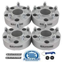 """Supreme Suspensions - 4pc 2"""" Hub Centric Wheel Spacers for 2002-2011 Dodge Ram 1500 2WD 4WD 5x5.5"""" (5x139.7mm) BP with 9/16""""x18 Studs 77.9mm Center Bore w/Lip [Silver]"""