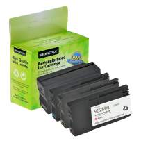 GREENCYCLE Remanufactured 952XL 952 XL High Yield Ink Cartridge Compatible for HP OfficeJet Pro 7740 8702 8710 8715 8720 8725 8730 8740 8216 8218 8716 8728 8210 (1 Black 1 Cyan 1 Magenta 1 Yellow)