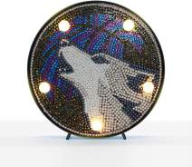 Yobeyi DIY Diamond Painting Lamp with LED Lights Full Drill Crystal Drawing Kit Bedside Night Light Arts Crafts for Home Decoration or Christmas Gifts 6.0x6.0inch (Wolf)