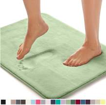 Gorilla Grip Original Thick Memory Foam Bath Rug, 42x24, Cushioned, Soft Floor Mats, Absorbent Premium Bathroom Mat Rugs, Machine Washable, Luxury Plush Comfortable Carpet for Bath Room, Sage