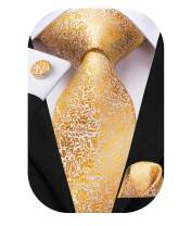 Dubulle Mens Necktie and Hankerchief Set Woven Silk Tie for Business